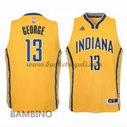 Maglie Basket NBA Indiana Pacers Bambino 2015-16 Paul George 13# Alternate Swingman..